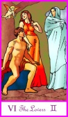 Tarot of the Masters -- Lovers card
