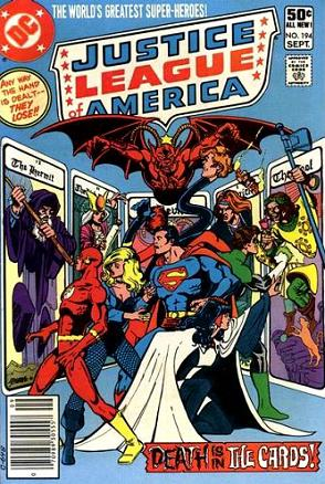 JLA Comic no. 194 DEATH IS IN THE CARDS
