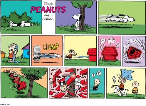 Peanuts and the Death card