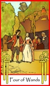Tarot of the Masters -- Four of Wands