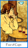 Four of Cups from Tarot of the Masters