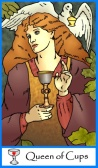 Tarot of the Masters -- Queen of Cups