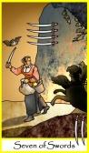 Seven of Swords in Tarot of the Masters