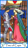 Two of Cups -- Tarot of the Masters