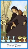 Five of Cups -- Tarot of the Masters