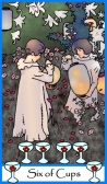 Six of Cups from Tarot of the Masters