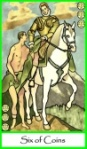Six of Coins -- Tarot of the Masters