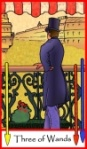 Three of Wands -- Tarot of the Masters