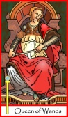 Queen of Wands -- Tarot of the Masters