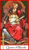 Queen of Wands -- Tarot of the Masters