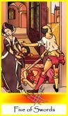 Five of Swords -- Tarot of the Masters