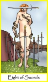 Eight of Swords -- Tarot of the Masters