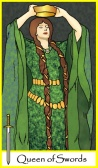 Queen of Swords -- Tarot of the Masters