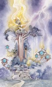The Tower -- Shadowscapes Tarot