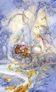 Six of Cups -- Shadowscapes Tarot