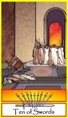 Ten of Swords -- Tarot of the Masters