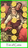 Ten of Coins / Pentacles -- Tarot of the Masters
