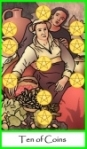 Ten of Coins -- Tarot of the Masters