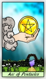 RWS 2.0 Ace of Pentacles