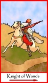 Knight of Wands -- Tarot of the Masters