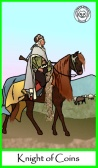 Knight of Coins -- Tarot of the Masters