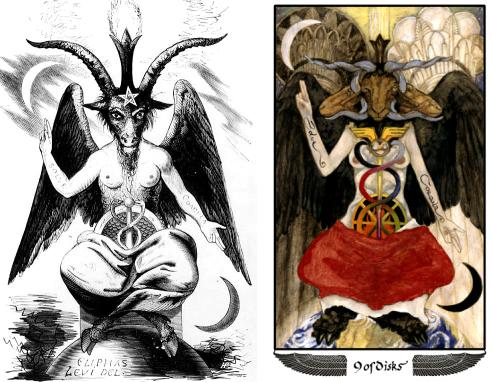Mary-El Nine of Disks vs Levi's Baphomet
