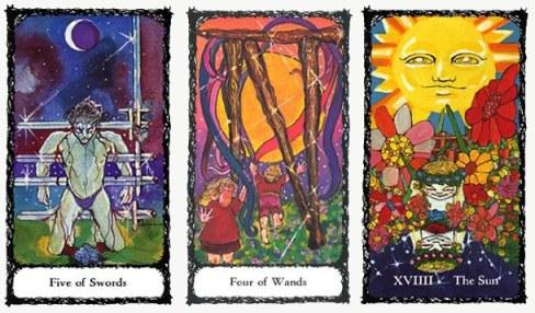 5S 4W and Sun Sacred Rose Tarot