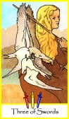 Three of Swords -- Tarot of the Masters