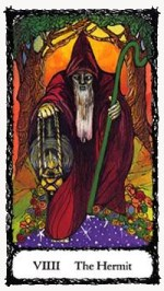 Hermit Sacred Rose Tarot