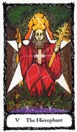 Hierophant Sacred Rose Tarot