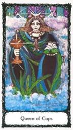 Queen of Cups Sacred Rose Tarot