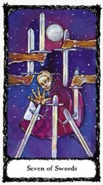 Seven of Swords Sacred Rose Tarot