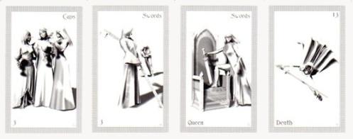 Four ShadowFox cards