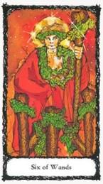 Six Wands Sacred Rose Tarot