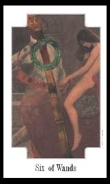 Transformational Tarot six of wands