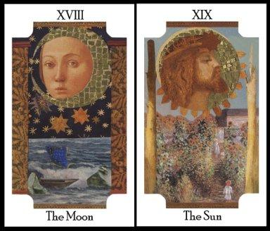 Transformational Tarot Moon and Sun