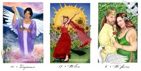 Gaian Tarot Temperance Sun Lovers
