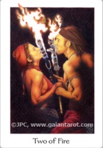 Gaian Tarot Two of Fire