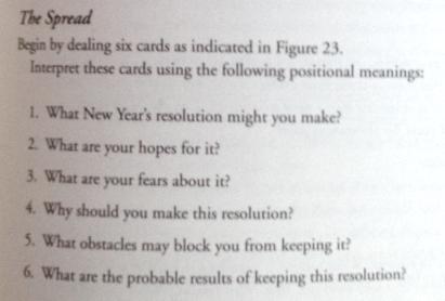 New Year Resolution Spread 2