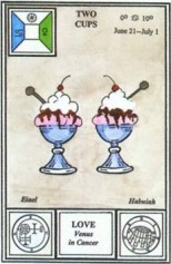 Tarot of Ceremonial Magic -- Two of Cups