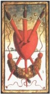 Sola Busca Three of Swords