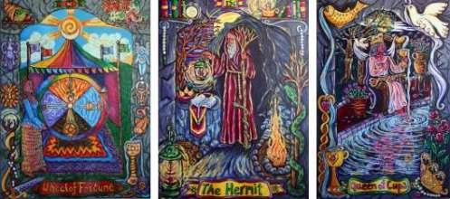 Pearls of Wisdom Wheel of Fortune Hermit Queen of Cups