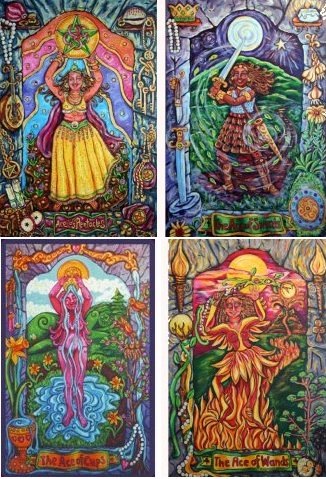 Pearls of Wisdom Tarot Aces