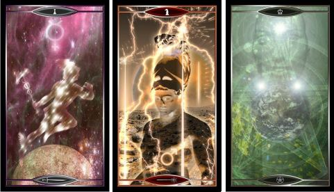 Quantum Tarot PageSw KnWands QuPents