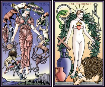 Fortuna and Prudence Tarot of the Sevenfold Mystery