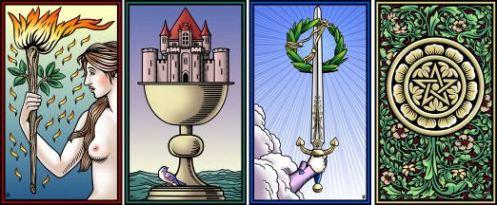 Four Aces Tarot of the Sevenfold Mystery