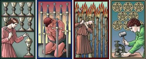 Four Eights Tarot of the Sevenfold Mystery