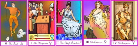Tarot of the Masters Majors 0 - 4