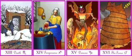 Tarot of the Masters Majors 13 - 16