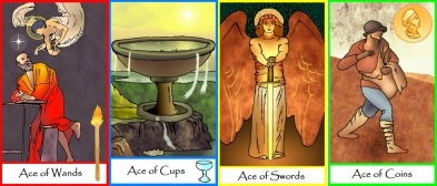The Aces from Tarot of Masters